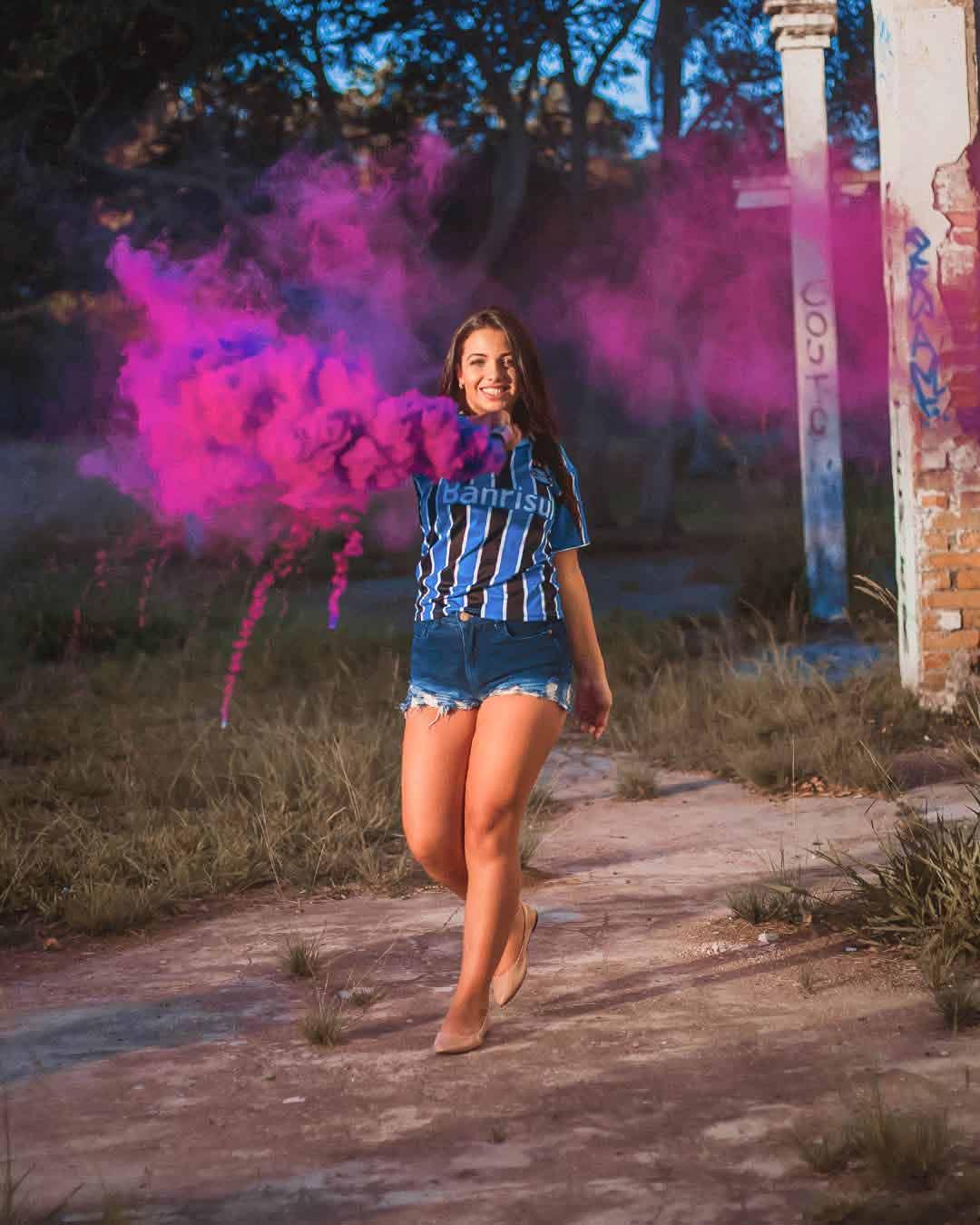ensaio com fumaca colorida porto alegre