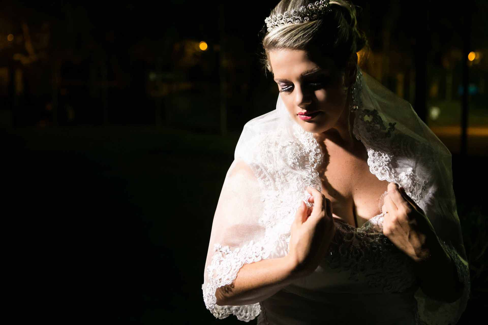 Fotos noiva Casamento noturno
